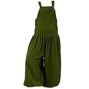 Guru-Shop Latzhose Muck Aladinhose Haremshose Pluderhose Pumphose - Olive, Damen, Baumwolle, Pluderhosen & Aladinhosen Alternative Bekleidung