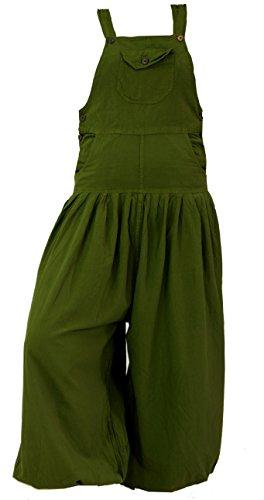 Guru-Shop Latzhose Muck Aladinhose Haremshose Pluderhose Pumphose - Olive, Damen, Grün, Baumwolle, Size:L (40), Pluderhosen, Aladinhosen Alternative...