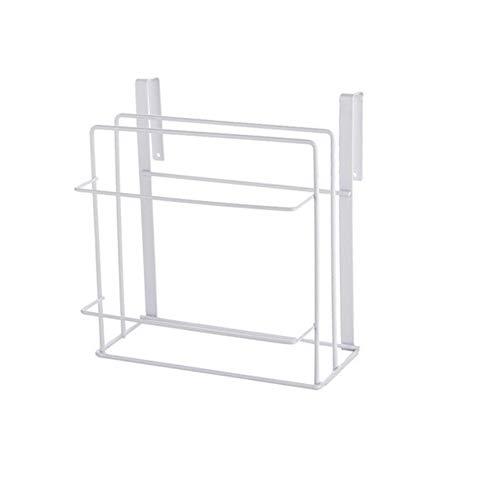 Huhuswwbin Handtuchhalter, doppelschichtig, Küchenschrank, Eisenregal, Schneidebrett, Aufbewahrungsregal, 24 x 11 x 24 cm weiß