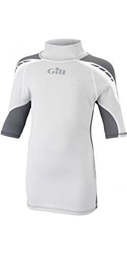 Gill Junior UV Sport ash Vest S/S Silver Grey/Ash 4421J Sizes- - Junior Small -