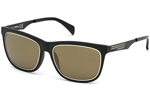 Occhiali da sole diesel dl0165 c56 02g (matte black / brown mirror)