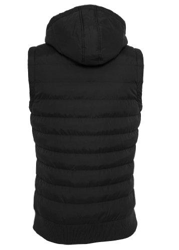 Urban Classics Small Bubble Hooded Vest, black/black Black/Black