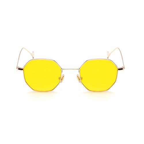 Sonnenbrille Kleines Quadratisches Stück Ozean Flaches Licht Licht Sonnenschirm Anti-UV-Retro-Sonnenbrille,G