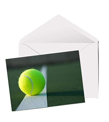 Cool Tennis Ball - A5 Grußkarte Geburtstag Vater Bruder Sport Sohn #2358 -