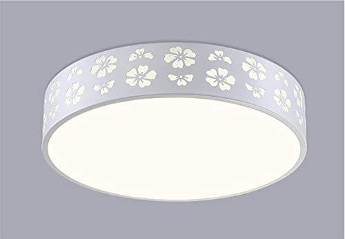 Xiao Fan ▶ * Deckenleuchte Das Wohnzimmer Led Schlafzimmer Acryl Dorf Balkon Eisen Tri Farbe Licht 40 cm 24 Watt Moderne Minimalistische Lampe ◀