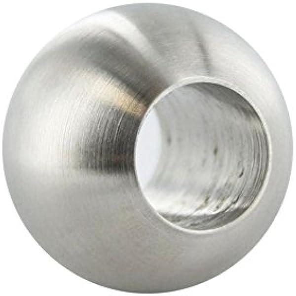 V2A Edelstahl Hohlkugel Ø Durchmesser 120 mit Bohrung 5mm korngeschliffen