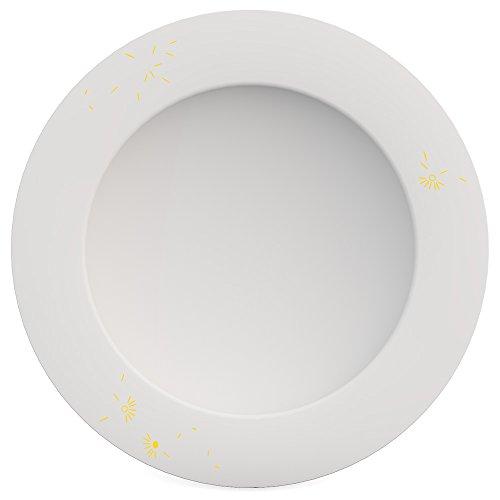 Ornamin Assiette Creuse Ø 24 cm Viento Jaune Mélamine (Modèle 1205) / assiette à pâtes, assiette à soupe
