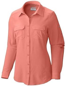 Columbia Saturday Trail Camisa Manga Larga Enrollable con Protección Solar 40, Mujer, Naranja (Lychee), M