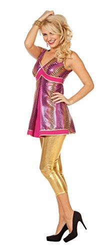 Karneval Klamotten Disco Kostüm Damen Kleid-er Damenkostüm Disco-kleid 70er Jahre Damenkostüm Größe 46 (70's Disco Kostüme Für Kinder)