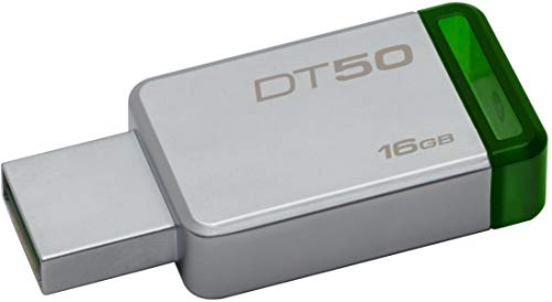 Kingston DataTraveler 16GB USB 3.0 Flash Drive (Silver and Green)