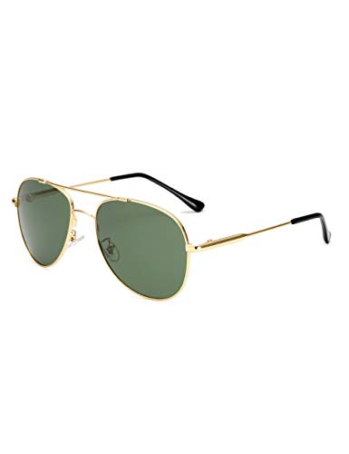 HNPYY Sonnenbrillen Sonnenbrille Männer Brille Memory Metall Brillengestell Photochrome Linse, Gold Grün