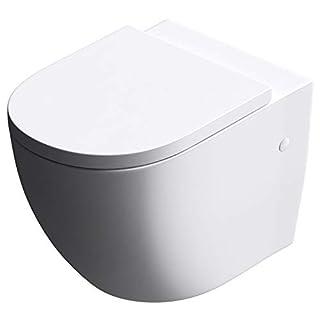 Design-Toilette/Hänge WC Aachen376 mit Silent Close Absenkautomatik