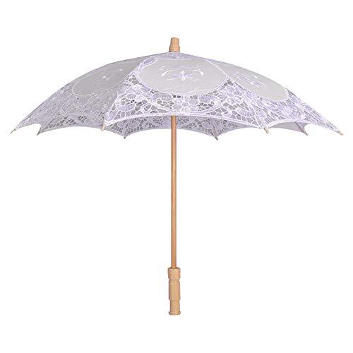 Quaan Spitze Gestickt Sonne Sonnenschirm Regenschirm Braut Hochzeit Tanzen Party Foto Show Kunststoff niedlich Faltbar Regenschirm Camping Geschenke Draussen elegant