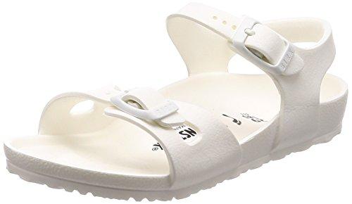 Birkenstock Rio, Sandali con Cinturino alla Caviglia Bambina, Bianco Blanc, 24 EU