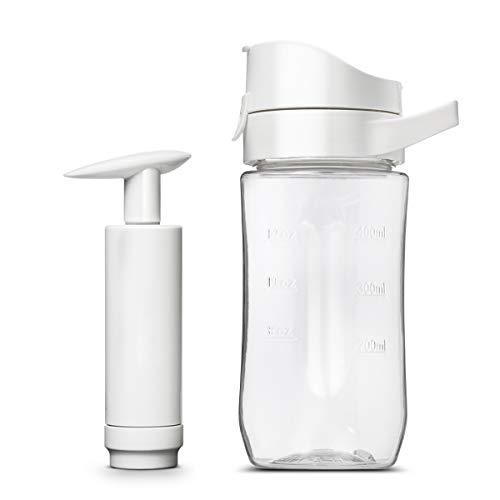 HomeMiYN Mini Standmixer 280 Watt 2x2000mAh Blender Smoothie Mixer/Maker 400ml Trinkflasche Mixbehälter Edelstahl Klinge Eis Zerkleinerer/Ice Crusher Antioxidation, Flasche