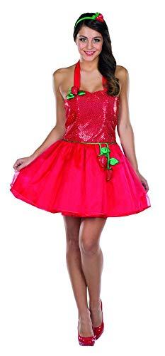 Erdbeere Kostüm Kleid - Rubie's Damen Kostüm Sexy Erdbeere Fraise