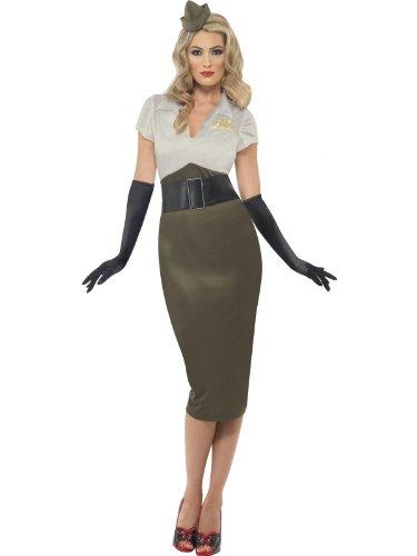 WW2 Army Pin Up Spice Darling Costume Woman Fancy (Dress Female Army Fancy)