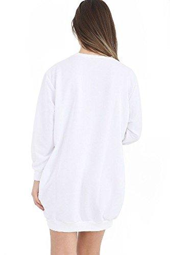 Ladies Girls Love Manchester Sweatshirt EUR EUR Taille 36-44 One Love Blanc