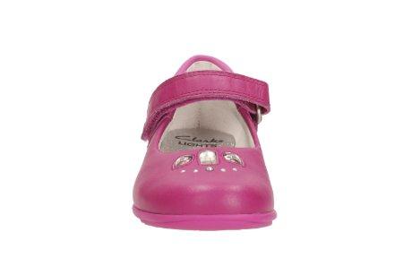 Clarks Trixi Spice Girls Schuh in rosa oder lila Leder Pink 7½ G (Antimikrobielle Sandalen Leder)