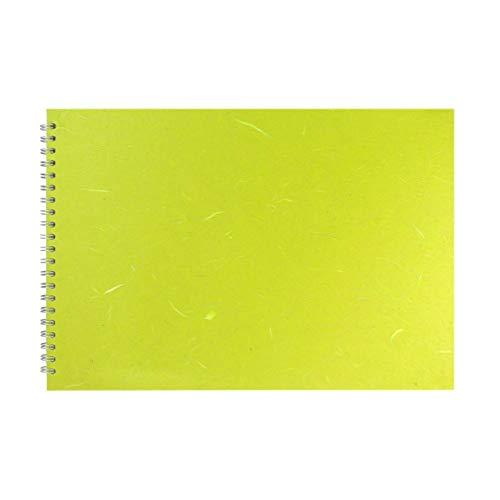 Pink Pig Einband, A3, Lindgrün, braunes Papier, L/Querformat