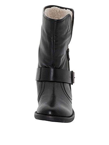 sheego Femmes Bottines cuir véritable Noir