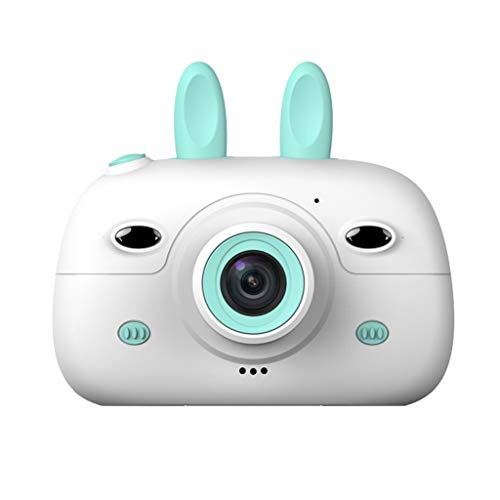 QINJLI Kinder Digitalkamera 2.4 Zoll High-Definition-Bildschirm Dual-Kamera Mit Flash Smart Focus Kann Bilder Video Cartoon Kaninchen Form Outdoor Travel Geburtstagsgeschenk Spielzeug (Color : B) (Video Cartoons)
