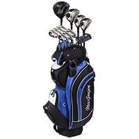 DCT Macgregor in acciaio/grafite, Set da golf con borsa, colore: nero/bianco/blu, 23 cm - Borse Grafite Stand