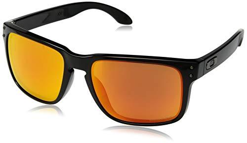 Oakley Herren Holbrook 9102f1 Sonnenbrille, Grau (Polished Black), 57