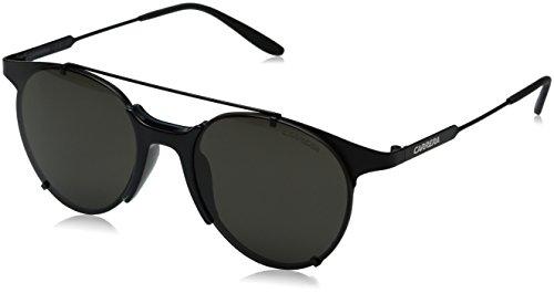 carrera-mens-ca128s-round-sunglasses-matte-black-brown-gray-52-mm