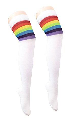 Herren Damen Regenbogen Multi Color Pride Kostüm Kostüm - Pick & Mix (Onesize, Rainbow Referee (Rainbow Kostüme Ideen)