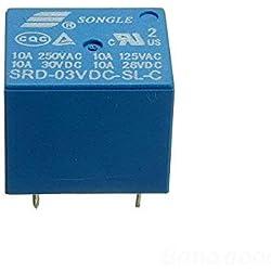 mark8shop SONGLE Mini 3V DC puissance relais SRD-3VDC-SL-C PCB Type de