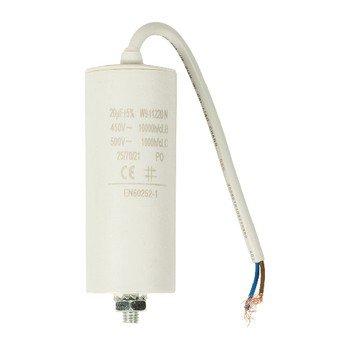 CAPACITOR 20.0uF/450V + Kabel (Anlaufkondensator Betriebskondensator Motor)