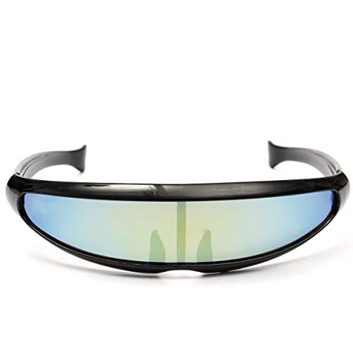 No brand Outdoor Sport Moto Racer Goggles Occhiali da Sole alla Moda alla Moda Protezione UV400 Occhiali da Sole Occhiali Vintage (Colore : 01)