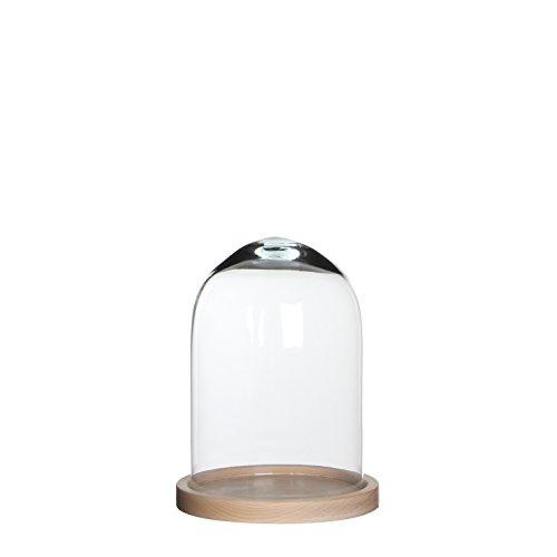 MICA Decorations Hella Glocke, Glas, transparant, 17.5 x 17.5 x 23 cm