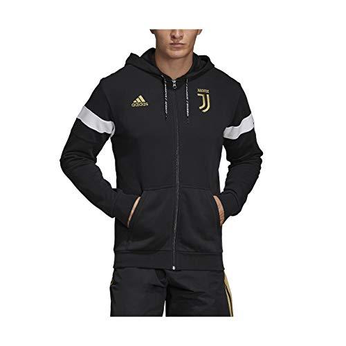 adidas FC Juventus Felpa Full Zip Hoodie 2018/19 - Colore - Nero, Misure - L
