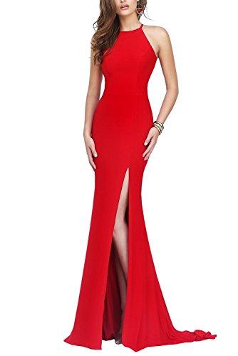Bridal_Mall - Robe - Sans Manche - Femme noir Schwarz 34 Rouge