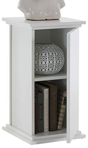 FMD Möbel Essex 1 Dekosäule Holz Weiß 30x30x58 cm -