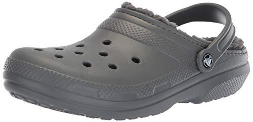Crocs classic lined, zoccoli unisex-adulto, grigio (slate grey/smoke), 38/39 eu
