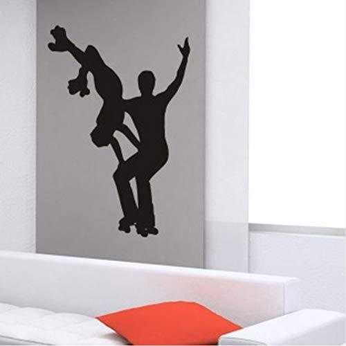Wandaufkleber Wandtattoo 58X40 Cm Ice Dance Shooting Eis-Sportarten Sport Skaten Skaten Aufkleber Sport Aufkleber Kinderzimmer Poster Vinyl Wandtattoos Aufkleber (Skaten-aufkleber)
