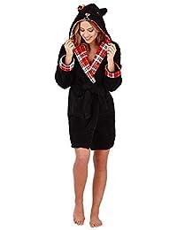 3761534419 Loungeable Ladies Luxury Fleece Super Soft Lounge Nightwear Robe