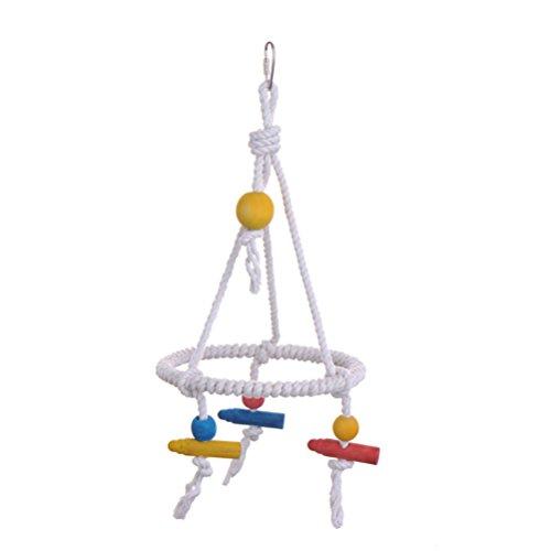 UEETEK Vogel Schaukel Bunte Baumwolle Seil Papagei Spielzeug für Papagei Pet Training -
