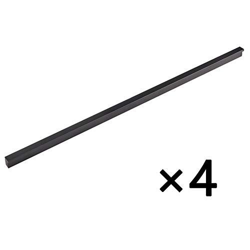 WXKER Schubladengriff, 4 × Bogengriffe Küchengriff Schrankgriffe Stangengriffe Schlafzimmer Kleiderschrank Badezimmer Einfach Europäischen Stil Aluminiumlegierung 2 Modelle (5 Größe)