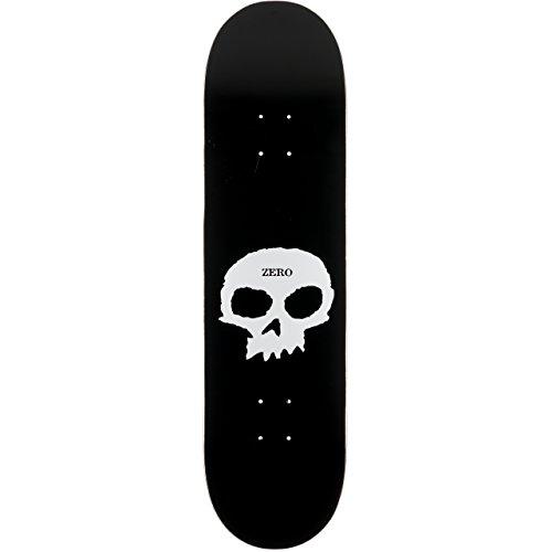 "Zero Single Skull R7 Deck Black/White - 8.375\"" O/S"