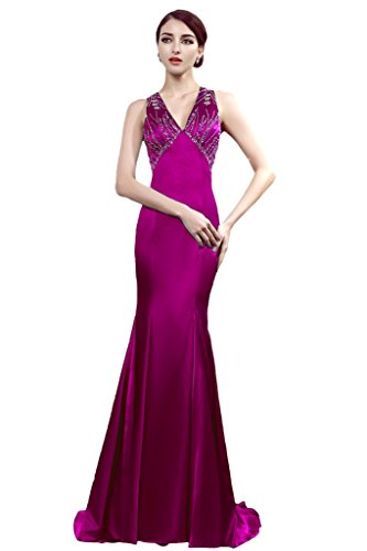 Promgirl House - Robe - Crayon - Femme Violet - Fuchsia