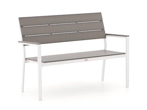 Bellagio Bravo Gartenbank 2 Sitzer 128 cm Weiß