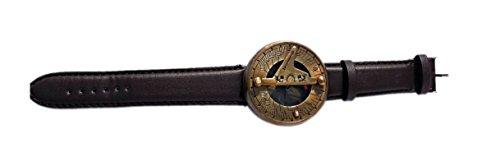 Maritime Museum Store Handschlaufe Armbanduhr Sonnenuhr Kompass mit Lederband. c-3117-a -