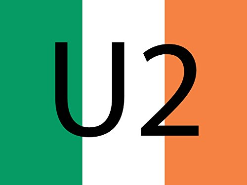 magFlags Flagge: Large U2 Ireland | Ireland Defaced with The Text U2 | Querformat Fahne | 1.35m² | 100x130cm » Fahne 100% Made in Germany