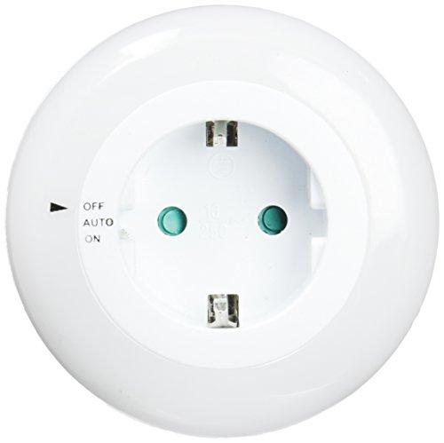 Electro DH 60.248/B LED Nachtlicht mit Schalter und Fotozelle über Steckdose.