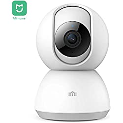 Xiaomi IMI Caméra de Surveillance WiFi Interieur 1080P HD avec la Vision Nocturne Audio Bidirectionnel Détection de Mouvement Pan/Tilt Dôme Camera IP WiFi sans Fil pour Bébé Chien Chat - MI Home APP