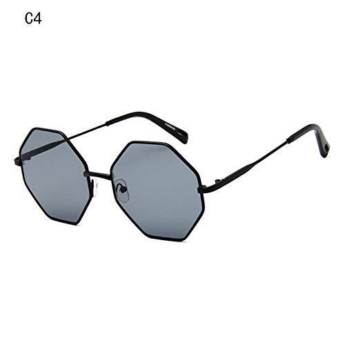 Sonnenbrille Neue Frauen Luxus Sonnenbrille Designer Kleine Polygonale Sunglass Quadrat Schattierungen Alle Schwarze Weibliche Retro Octagon Sonnenbrille Uv400